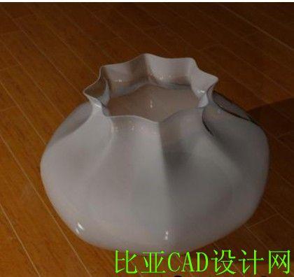 006梅花型鱼缸设计