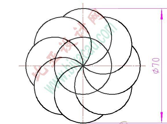 圆弧形单身公寓平面设计图