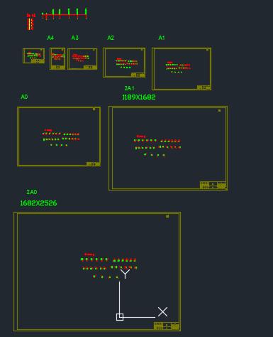 CAD图框符号样版