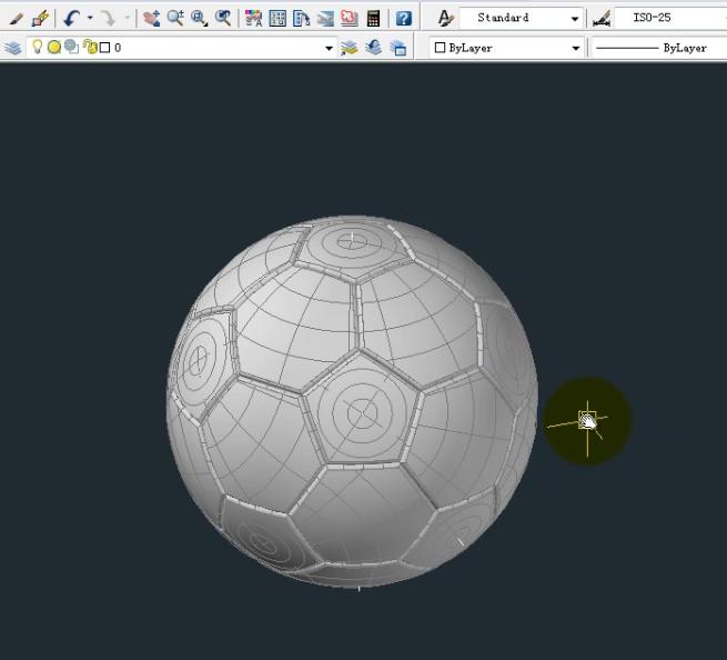 CAD2008足球建模(旋转式)