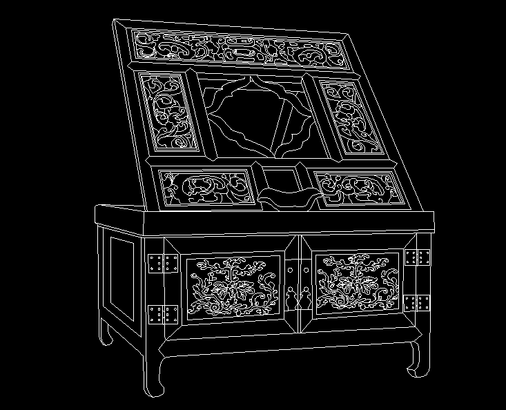 清代早期紫檀折叠镜台