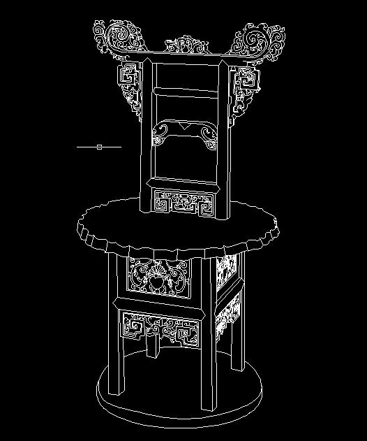 清代宁式榉木缠脚架