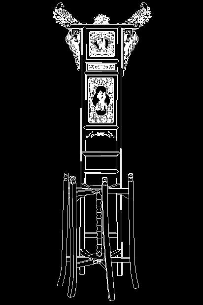 明代宁式花梨木面盆架