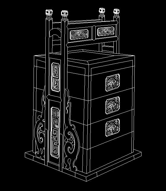 清代宁式榉木扛箱