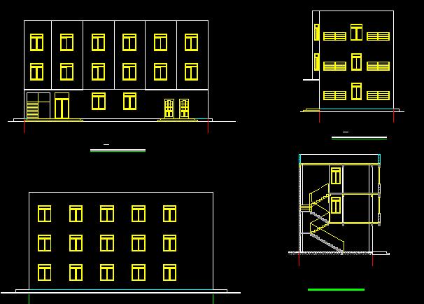 宿舍总和楼建筑施工图