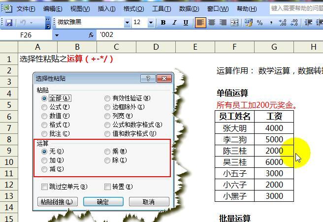 Excel操作技巧教程