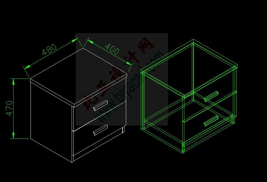 cd三维绘制简单床头柜图片