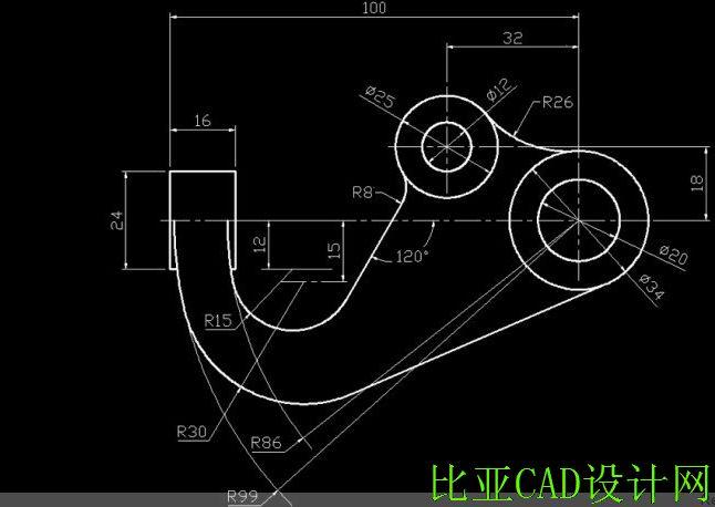 双孔固定座,悬挂勾结构,容含CAD技